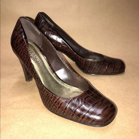 42cbf061b2d1 Franco Sarto Size 7.5 M Brown Pumps Animal Print